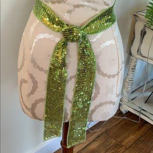 Green sequin sash